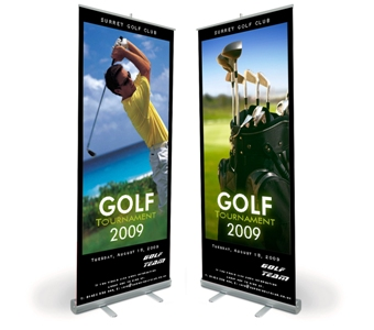 Roll up stand banners